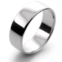 Slight or Soft Court Light -  7mm Platinum Wedding Ring