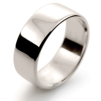 Soft Court Light - 8mm (SCSL8 W) White Gold Wedding Ring