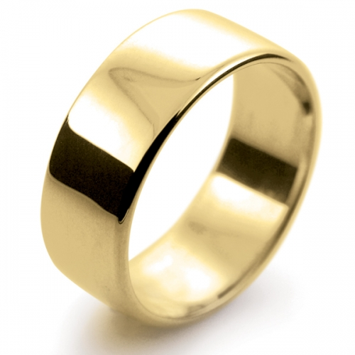 Soft Court Light -  8mm (SCSL8Y-9Y) 9ct Yellow Gold Wedding Ring