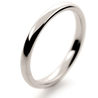 Soft Court Medium -   2mm (SCSM2 W) White Gold Wedding Ring