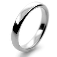 Slight or Soft Court Medium - 3mm (SCSM3PAL) Palladium Wedding Ring