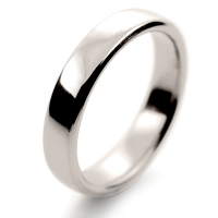 Soft Court Medium - 4mm (SCSM4 W) White Gold Wedding Ring