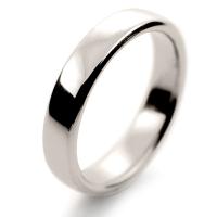 Soft Court Medium - 4mm (SCSM4 W) White Gold Wedding Ring