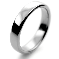 Slight or Soft Court Medium - 4mm (SCSM4PAL) Palladium Wedding Ring