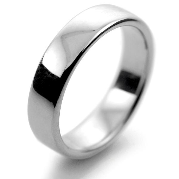 Beautiful Slight or Soft Court Medium - 5mm (SCSM5P) Platinum Wedding Ring  QF14