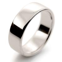 Soft Court Medium - 7mm (SCSM7 W) White Gold Wedding Ring