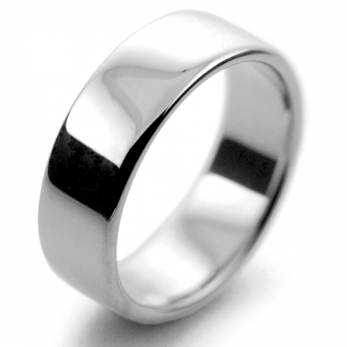 Slight or Soft Court Medium - 7mm (SCSM7PAL) Palladium Wedding Ring