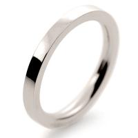 Flat Court Very Heavy -  2 mm (FCH2 W) White Gold Wedding Ring