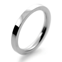 Flat Court Very Heavy -  2.0mm Platinum Wedding Ring (Plat or Pall)