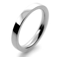 Flat Court Very Heavy -  2.5mm (FCH2.5P) Platinum Wedding Ring