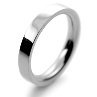 Palladium Wedding Rings Flat Court Heavy - 3mm