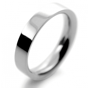 Flat Court Very Heavy -  4mm (FCH4P) Platinum Wedding Ring