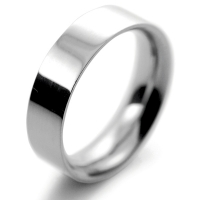 Flat Court Very Heavy -  6mm (FCH6P) Platinum Wedding Ring