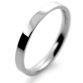 Palladium Wedding Ring Flat Court Light -  2mm