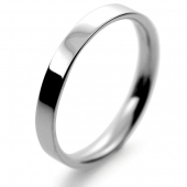 Palladium Wedding Ring Flat Court Light - 2.5mm