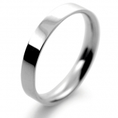 Palladium Wedding Ring Flat Court Light - 3mm
