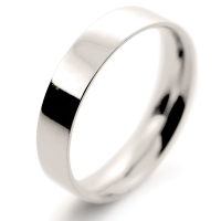 Flat Court Light -  4mm (FCSL4 9W) 9ct White Gold Wedding Ring