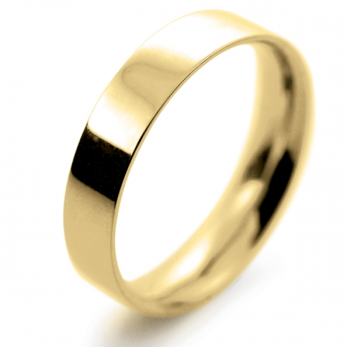 Flat Court Light - 4mm (FCSL4Y-Y) Yellow Gold Wedding Ring