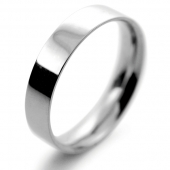 Palladium Wedding Ring Flat Court Light - 4mm