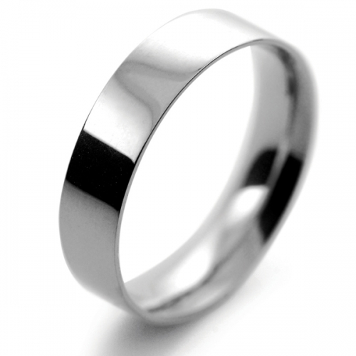Flat Court Light - 5mm (FCSL5PAL) Palladium Wedding Ring