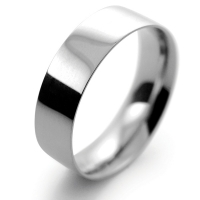 Flat Court Light - 6mm (FCSL6P) Platinum Wedding Ring
