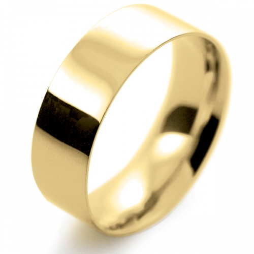 Flat Court Light -  7mm (FCSL7Y-Y) Yellow Gold Wedding Ring