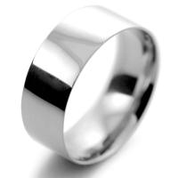 Flat Court Light - 8mm Platinum Wedding Ring (Plat or Pall)