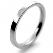 Palladium Wedding Ring Flat Court Medium -  2mm