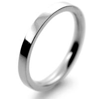 Flat Court Medium -  2mm (FCSM2PAL) Palladium Wedding Ring