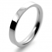 Palladium Wedding Ring Flat Court Medium - 2.5mm