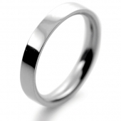 Palladium Wedding Ring Flat Court Medium - 3mm