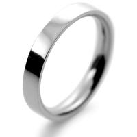 Flat Court Medium -  3mm Platinum Wedding Ring (Plat or Pall)