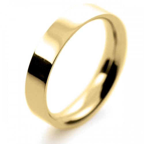 Flat Court Medium - 5mm (FCSM5Y-9Y) 9ct Yellow Gold Wedding Ring