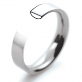 Palladium Wedding Rings 500 - Plain Flat Court Profile