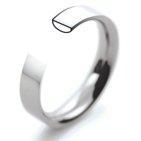 Palladium Wedding Rings Flat Court Heavy - 3mm