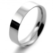 Palladium Wedding Ring Flat Court Medium - 5mm
