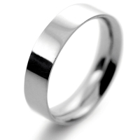 Flat Court Medium -  5mm Platinum Wedding Ring (Plat or Pall)