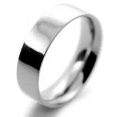 Palladium Wedding Ring Flat Court Medium - 6mm
