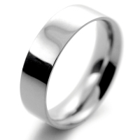 Flat Court Medium -  6mm (FCSM6P) Platinum Wedding Ring