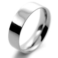Flat Court Medium - 6mm (FCSM6PAL) Palladium Wedding Ring