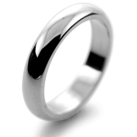 D Shaped Very Heavy - 5mm Platinum Wedding Ring (Plat or Pall)