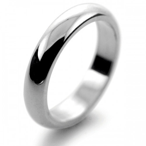 D Shaped Very Heavy - 5mm (DSM5) Platinum Wedding Ring