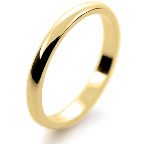 D Shape Light - 2mm (LD2-Y) Yellow Gold Wedding Ring