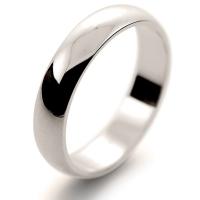D Shape Light - 4mm (DSSL W) White Gold Wedding Ring