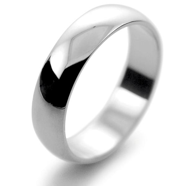 Platinum Wedding Rings.D Shape Light Weight 5mm Platinum Wedding Ring Plat Or Pall