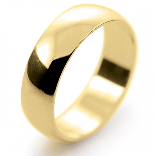 D Shape Light -  6mm (LD6-18Y) 18ct Yellow Gold Wedding Ring