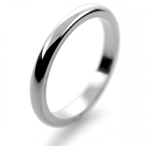 D Shape Heavy Weight -   2mm (DSH2PAL) Palladium Wedding Ring
