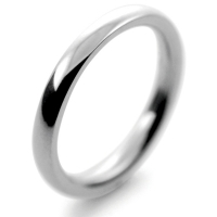 Traditional Court Heavy - 2.5mm (TCH2.5P) Platinum Wedding Ring