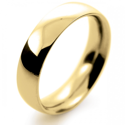 Court Very Heavy -  5mm (TCH5Y) 18ct Yellow Gold Wedding Ring