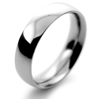 Court Traditional Heavy - 5mm Platinum Wedding Ring (Plat or Pall)